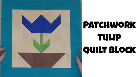 How To Piece A Patchwork Tulip Quilt Block With Leah Day