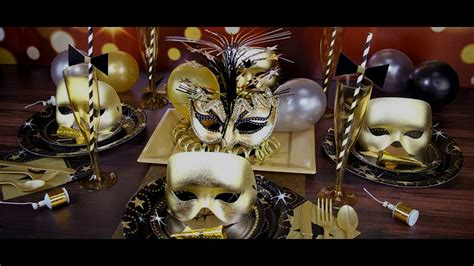 masquerade party themed decorating ideas youtube