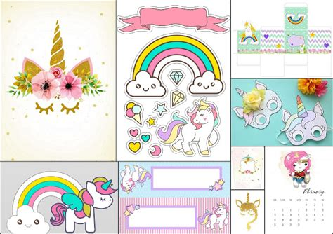 unicorn mask free printable template oh my in
