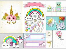 Unicorn Party Free Party Printables Oh My Fiesta! in