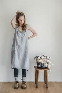 Not Perfect Linen : not perfect linen pinafore square cross linen apron washed silver ~ Buech-reservation.com Haus und Dekorationen