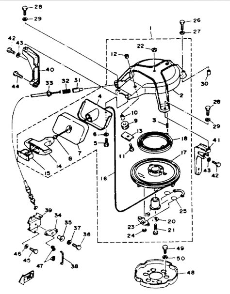yamaha outboard oem parts wiring diagram and fuse box