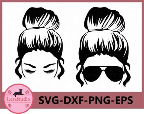 Bad bunny sunflower, adult, unisex, yellow sunglasses, music, layered svg, svg eps png dxf. 60 % OFF Messy Bun svg Girl with lashes Svg Mom life svg ...