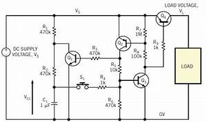 transistors latching power switch question electrical With circuit on off latch circuit