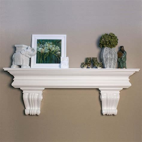 This Is A Mantel Shelf With Country French Styling And Corbels