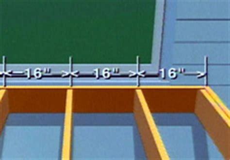 distance between floor joists on a deck hometime how to decks building a deck overview