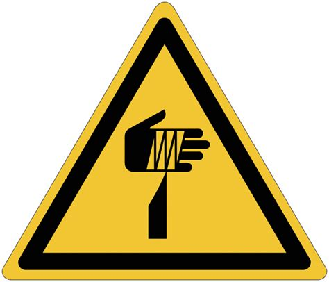 pictogramme iso  en rouleau danger element pointu