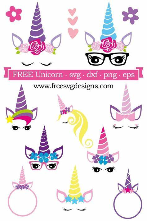 Unicorn (86 images) 1/5 pages. Free SVG cut file - FREE design downloads for your cutting ...
