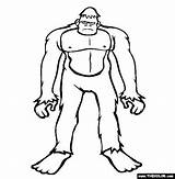 Bigfoot Coloring Pages Sasquatch Cryptids Finding Printable Drawing Draw Colouring Outline Thecolor Monster Drawings Silhouette Sketches Monsters Birthday Popular Tattoo sketch template