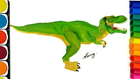 draw dinosaurs coloring pages teach drawing