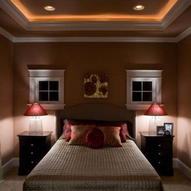lighted crown molding       bedroom