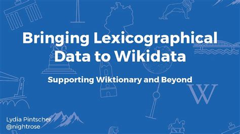 Submissions Bringing Lexicographical Data To Wikidata