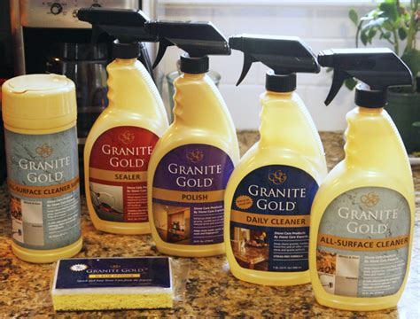 a cleaning with granite gold s