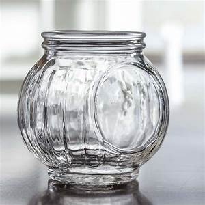 Round, Ribbed, Glass, Jar, -, Vase, And, Bowl, Fillers