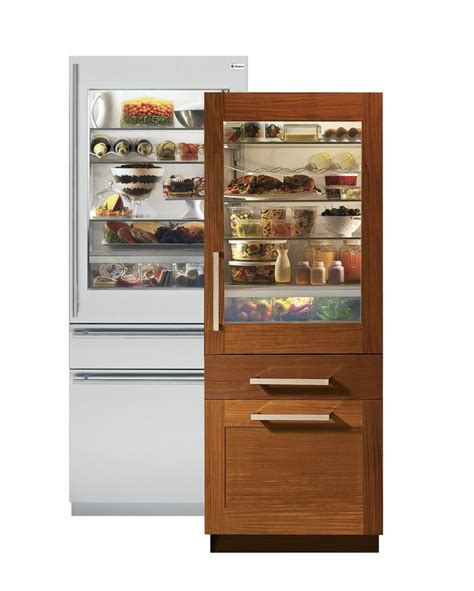 monogram zikgnhii built  bottom freezer refrigerators glass door refrigerator glass