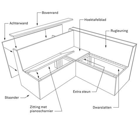 hoekbank steigerhout zelf maken tekening bouwtekening loungebank d 233 doe het zelf tekening