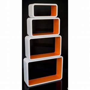 Etagere Cube Blanc : etagere de rangement orange ~ Teatrodelosmanantiales.com Idées de Décoration