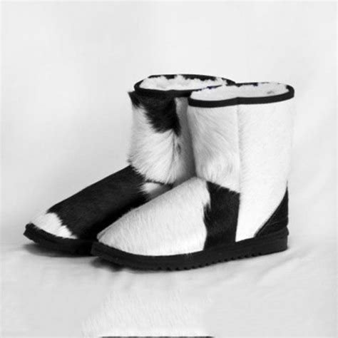 Cowhide Ugg Boots by Cow Hide Ankle Ugg Boots Eagle Wools