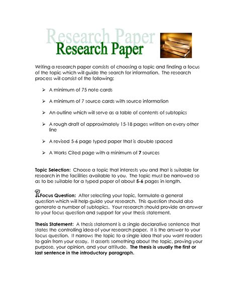 sentence of cover letter undergraduate researc for research paper sle 28 images a sle research paper