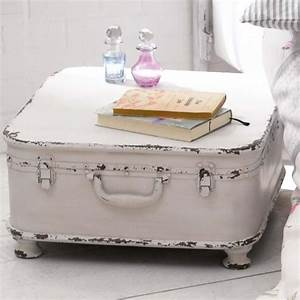 Beistelltisch Weiß Vintage : beistelltisch koffer design shabby chic metall wei k che nostalgie pur shabby ~ Yasmunasinghe.com Haus und Dekorationen