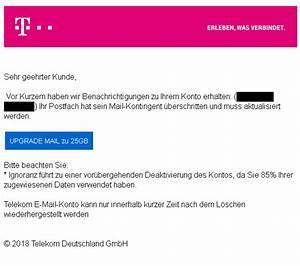Telekom Rechnung Fake : mail kontigent berschritten achtung telekom phishing ~ Themetempest.com Abrechnung