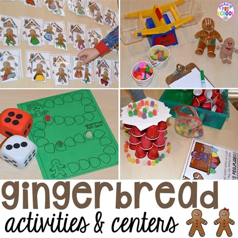 gingerbread centers and activities for gingerbread week 199 | Slide1