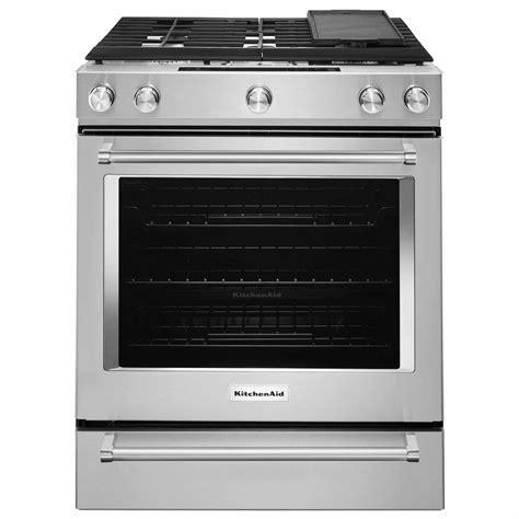 kitchenaid range kitchenaid ksdb900ess 7 1 cu ft 5 burner dual fuel