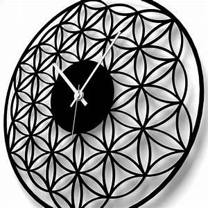 Blume Des Lebens Fensterbild : wanduhr blume des lebens ~ Indierocktalk.com Haus und Dekorationen