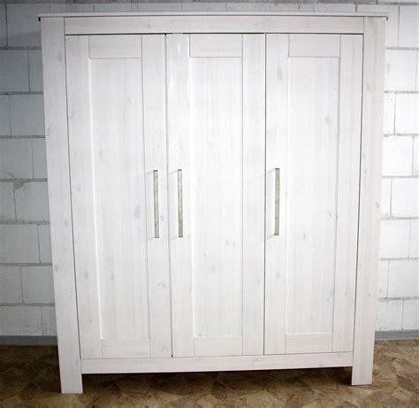 kleiderschrank kinderzimmer weiß kleiderschrank 3türig 163x190x63cm kiefer massiv weiß gewachst