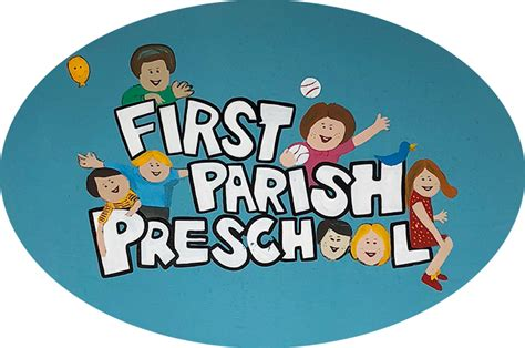 parish preschool 862 | blue oval sign
