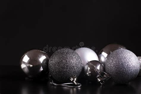 Christmas Decorations. Silver On Black. Stock Image Christmas Party Recipe Ideas Finger Food Recipes For Preschool Games Parties Melbourne Candy Themed Mickey Very Merry Review Rockin