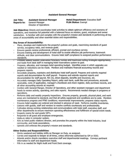 Oversaw students during lunch and recess periods. General Manager Assistant Job description template - How to write a General Manager Assistant ...