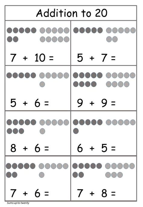addition   worksheet  printable  images