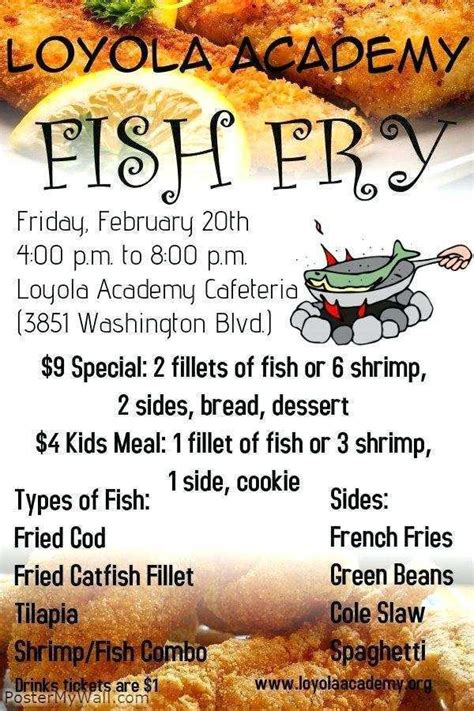 fish fry flyer template  cards design templates