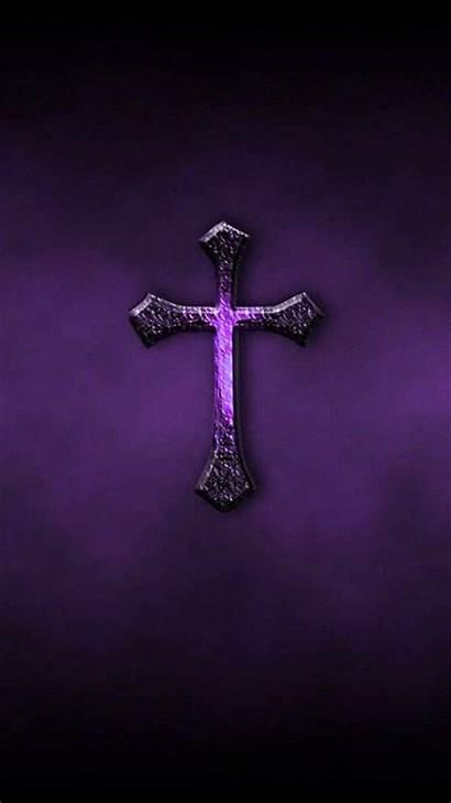 Cross Purple Zedge Backgrounds Jesus Christian Cool