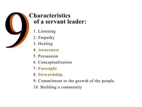 characteristics  servant leadership quora