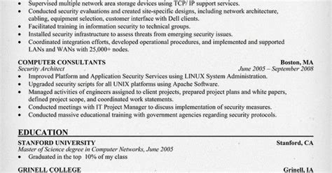It Security Architect Resume by Security Architect Resume Resumecompanion Resume Sles Across All Industries