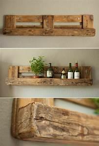 Palette De Bois : tag re en palette de bois une bouff e d inspiration ~ Premium-room.com Idées de Décoration