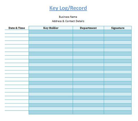 key log template log templates
