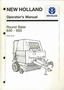New Holland Round Baler 640  U0026 650 Operators Manual
