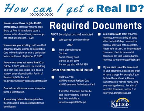 kansas department of revenue real id
