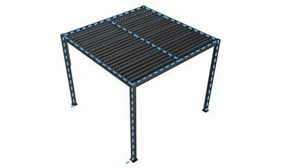 Pergola Container Door Aluminium Matte