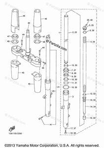 Yamaha Motorcycle 2006 Oem Parts Diagram For Front Fork