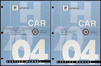 free car manuals to download 2003 buick regal windshield wipe control 2004 buick lesabre repair shop manual original 2 volume set