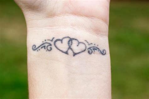 hearts tattoos  wrists