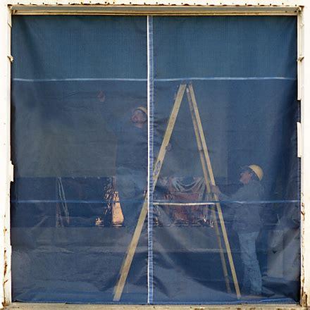 mesh curtains bug screens for industrial garage doors