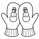 Mittens Coloring Mitten Gloves Winter Season Drawing Snowy Getdrawings Colorluna sketch template