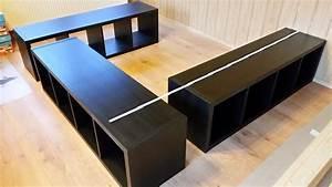 Ikea Hacks Podest : ikea hack aus kallax wird ein bett wohnideen pinte ~ Watch28wear.com Haus und Dekorationen