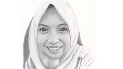 realistic drawing woman face  hijab youtube