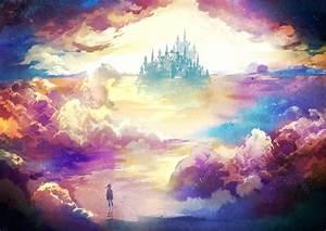 Artwork, Fantasy, Art, Digital, Art, Stars, Clouds, Colorful